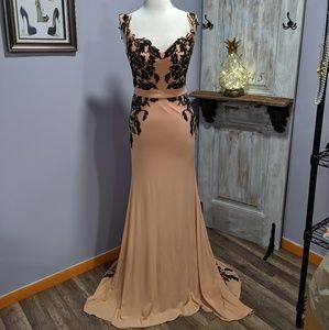 Dresses & Skirts - Madison James tan and black formal gown